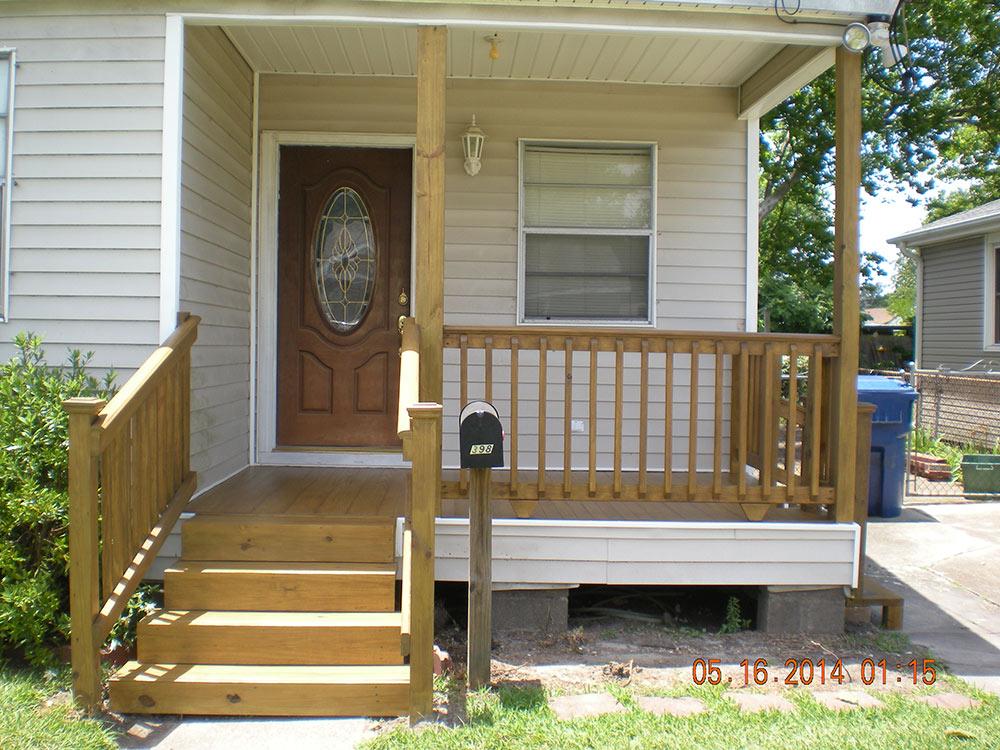 Front Porch Rebuild Harahan La Capital Improvement