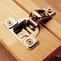 Nickel-Plated Six-Way Adjustable Hinge