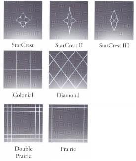 V-groved cut glass