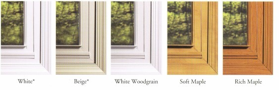 window colors and finishes